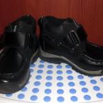 Ботинки осенние черные bambini 23-й размер б/у
